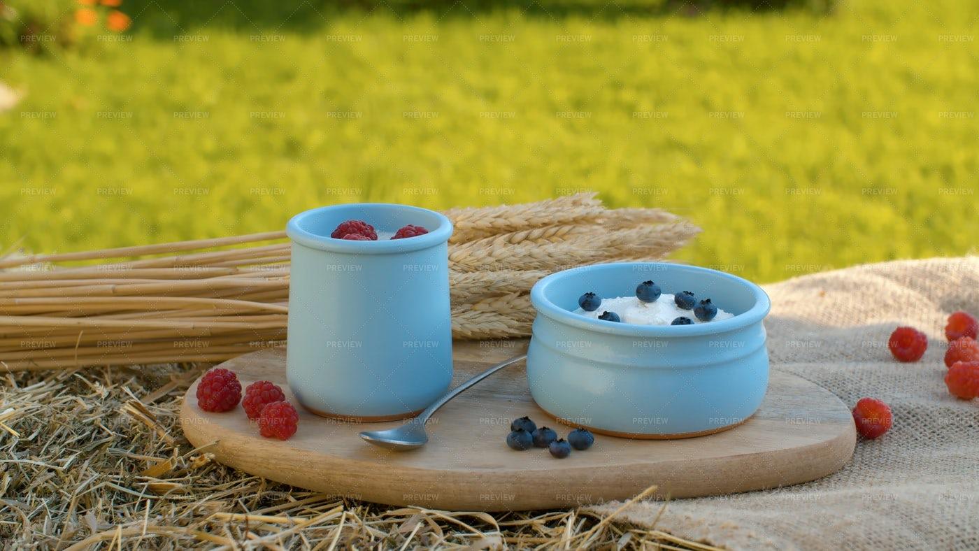 Yogurt With Berries: Stock Photos
