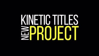 Kinetic Titles: Premiere Pro Templates
