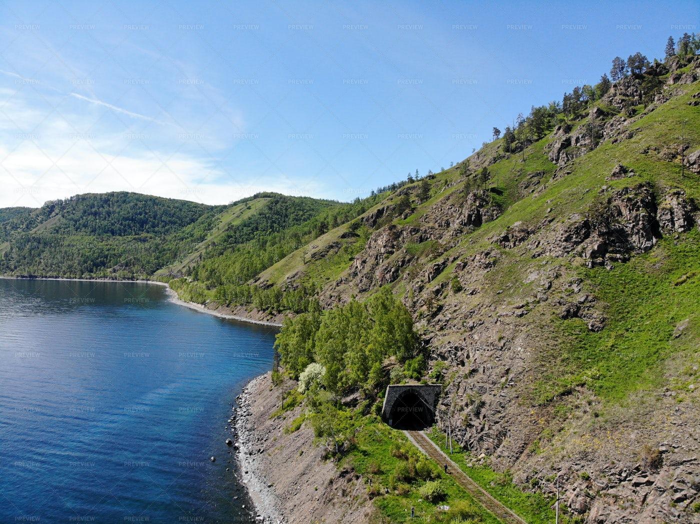 Tunnel On  Lake Baikal: Stock Photos
