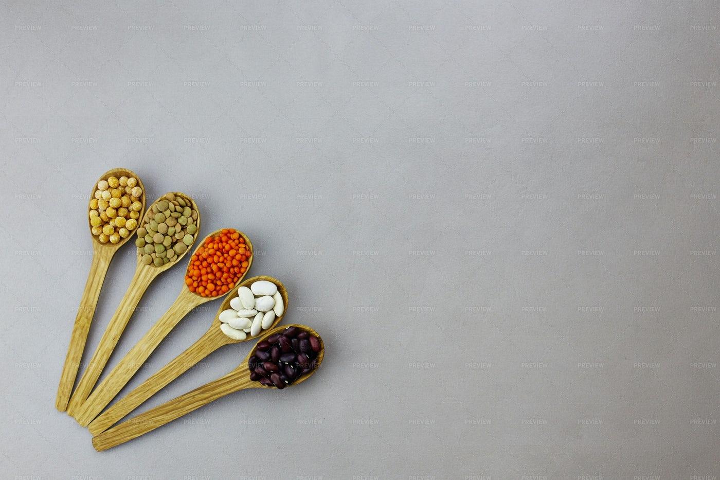 Various Dried Legumes: Stock Photos