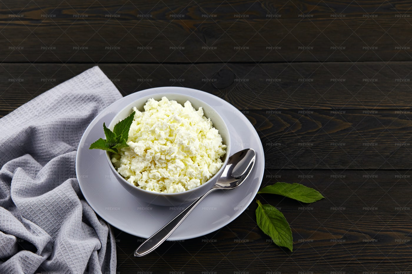 Natural Cottage Cheese: Stock Photos