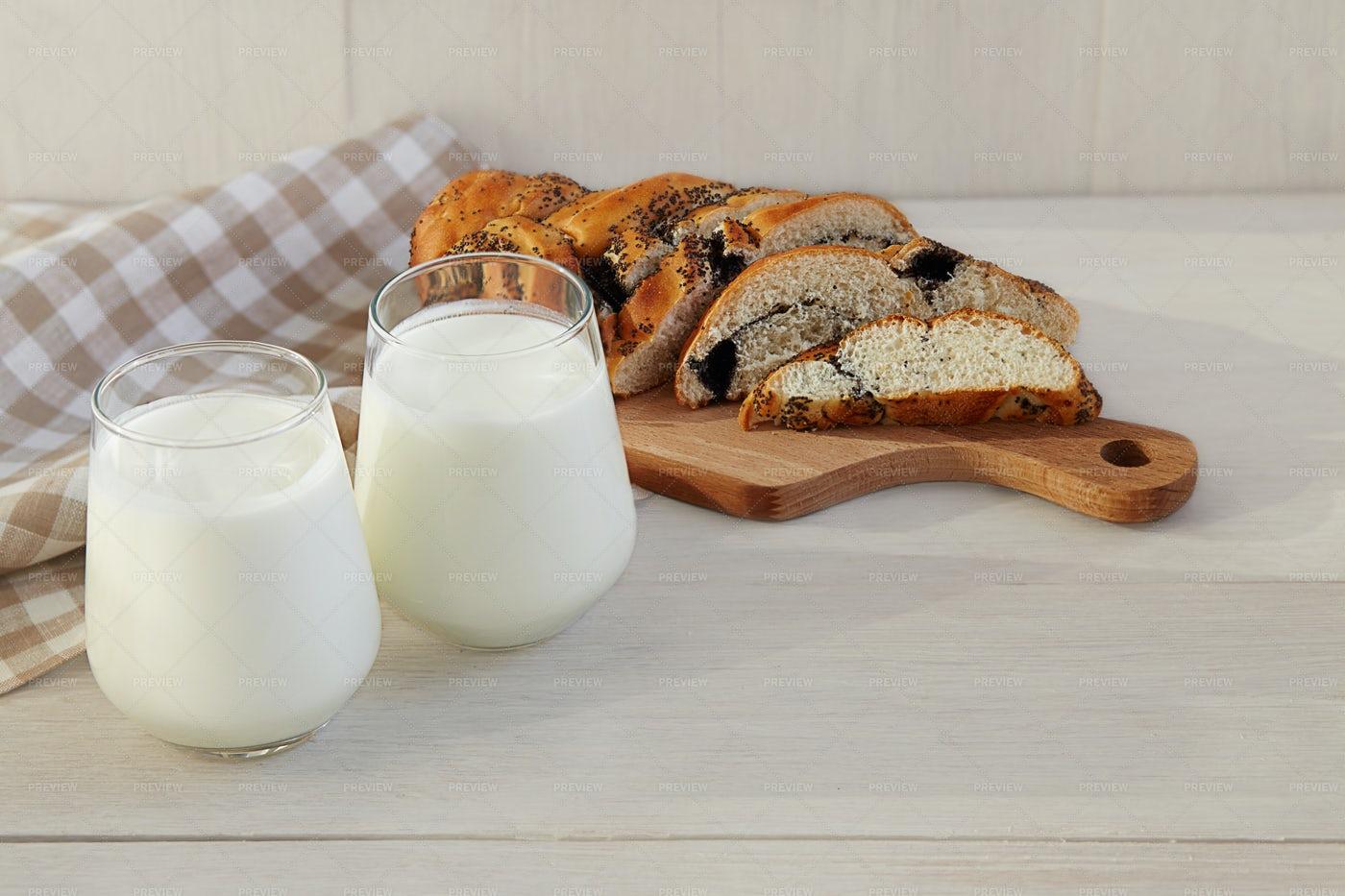Organic Probiotic Kefir: Stock Photos