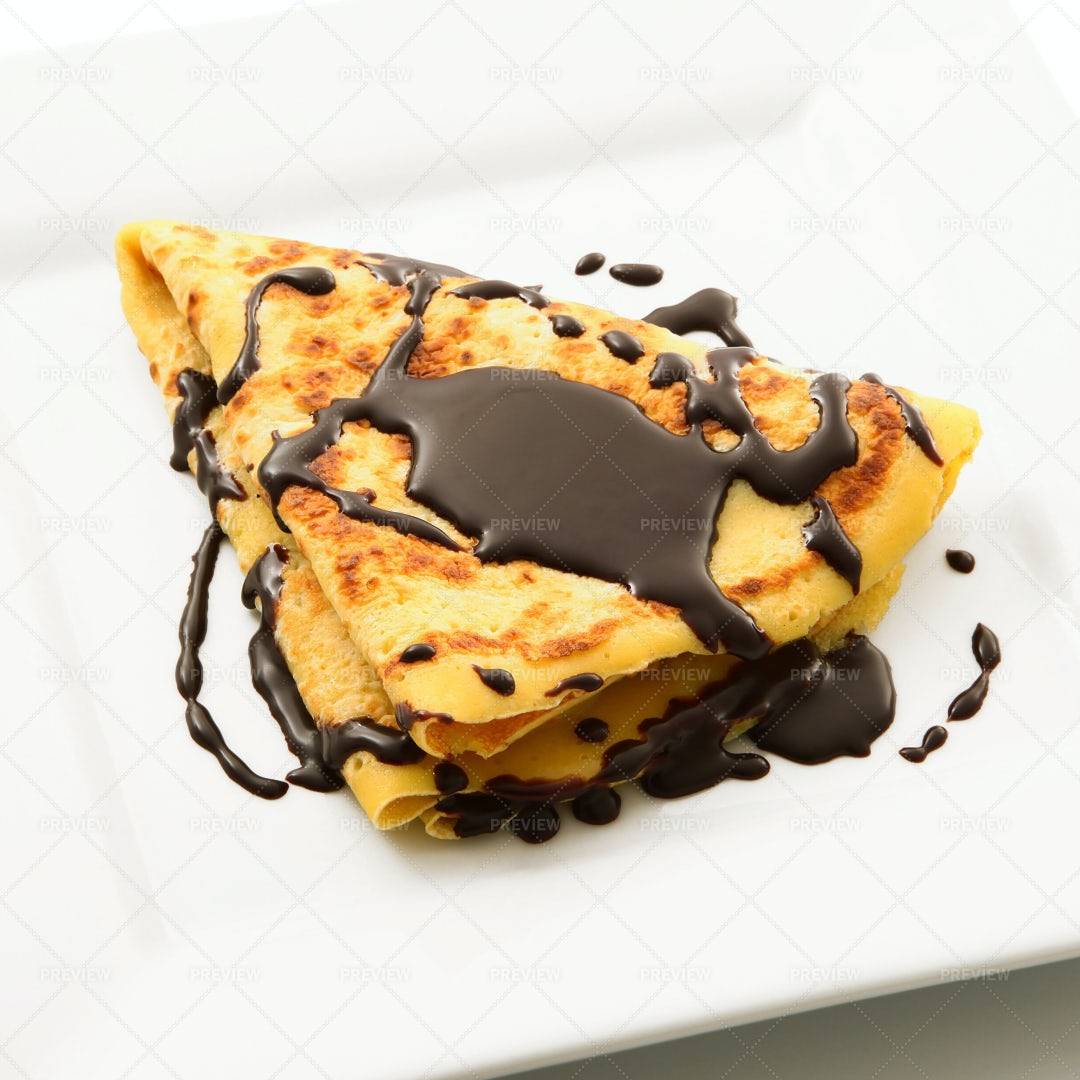 Crepes With Chocolate: Stock Photos