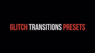 Glitch Transitions Presets: Premiere Pro Templates
