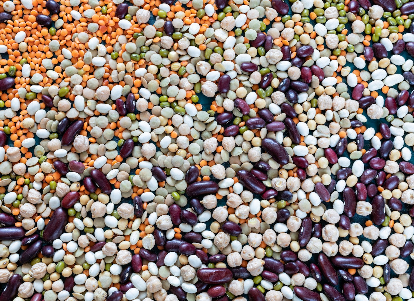 Mix Of Healthy Beans: Stock Photos