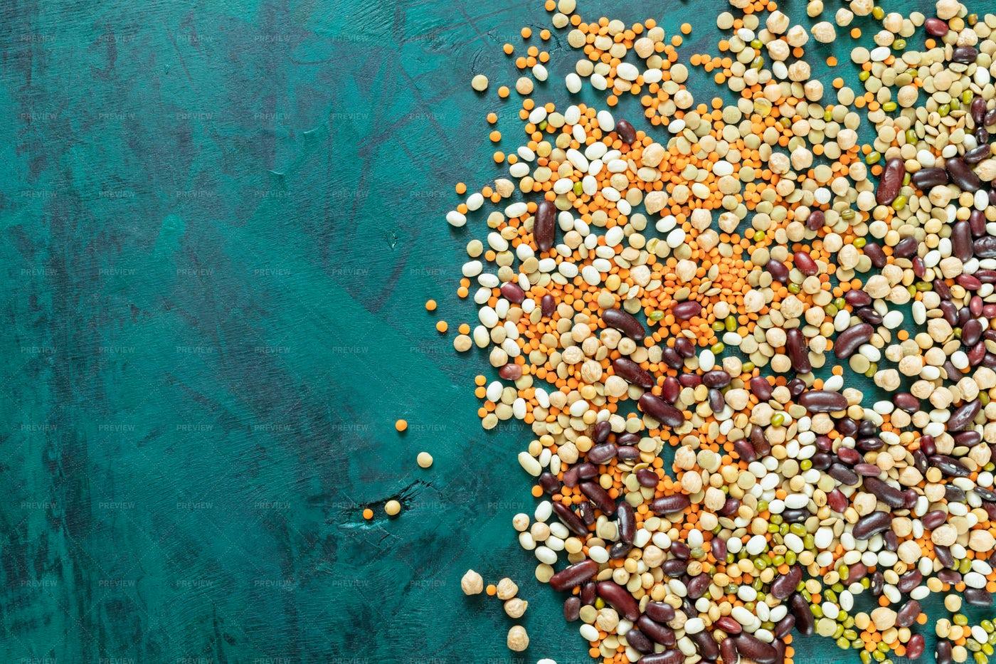Several Mixed Beans: Stock Photos