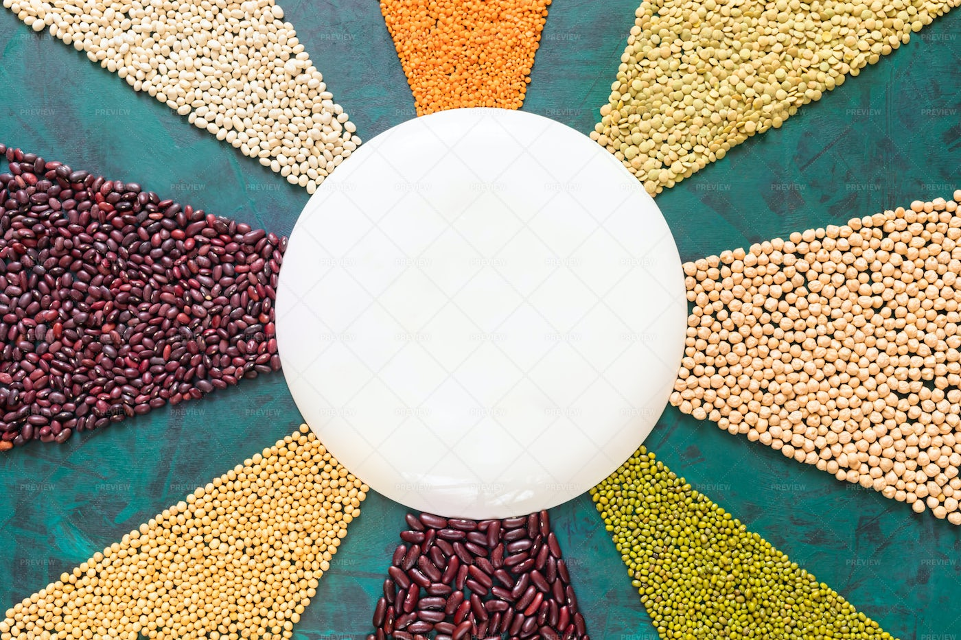 Legumes And Cereals.: Stock Photos