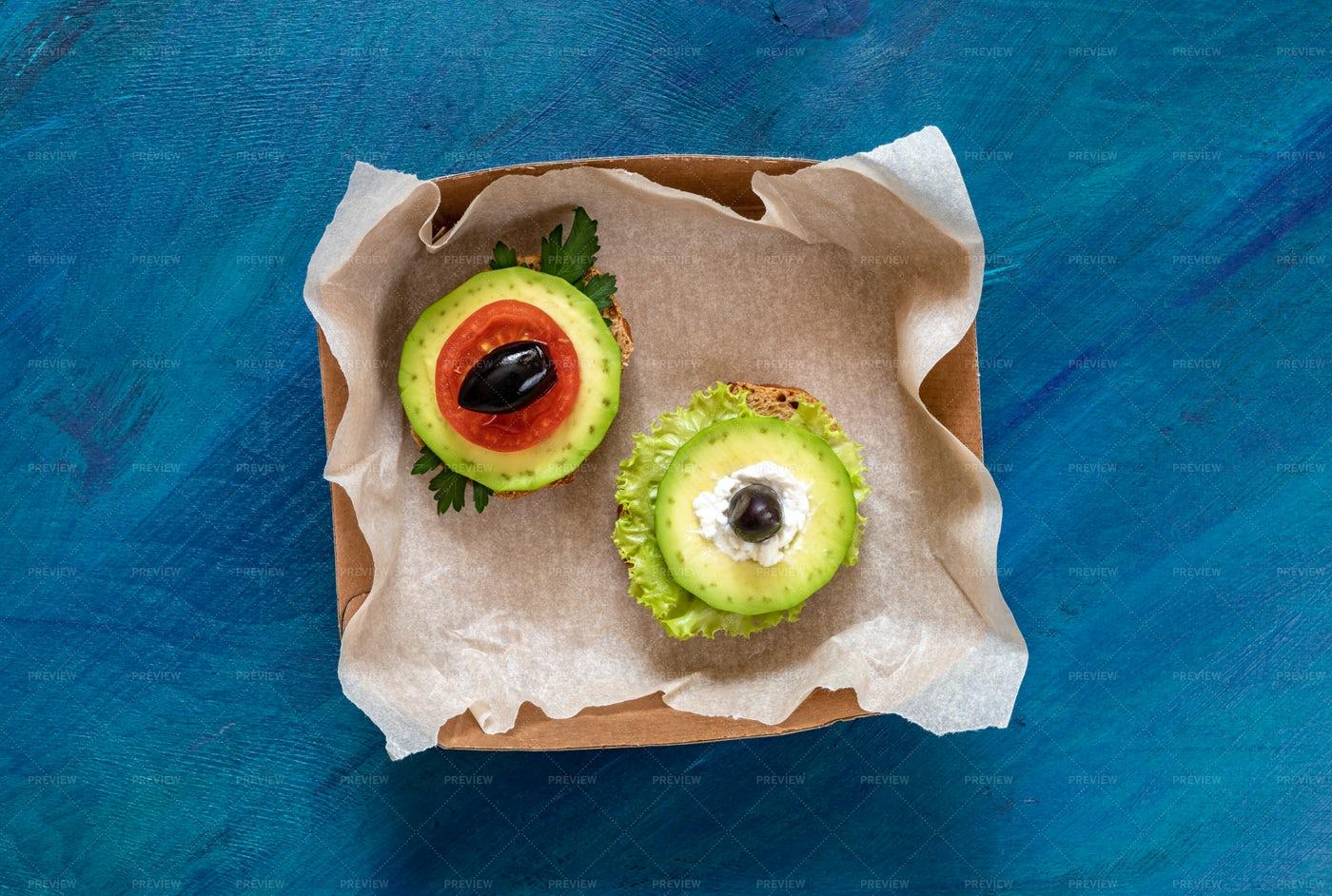 Two Veggie Sandwiches: Stock Photos
