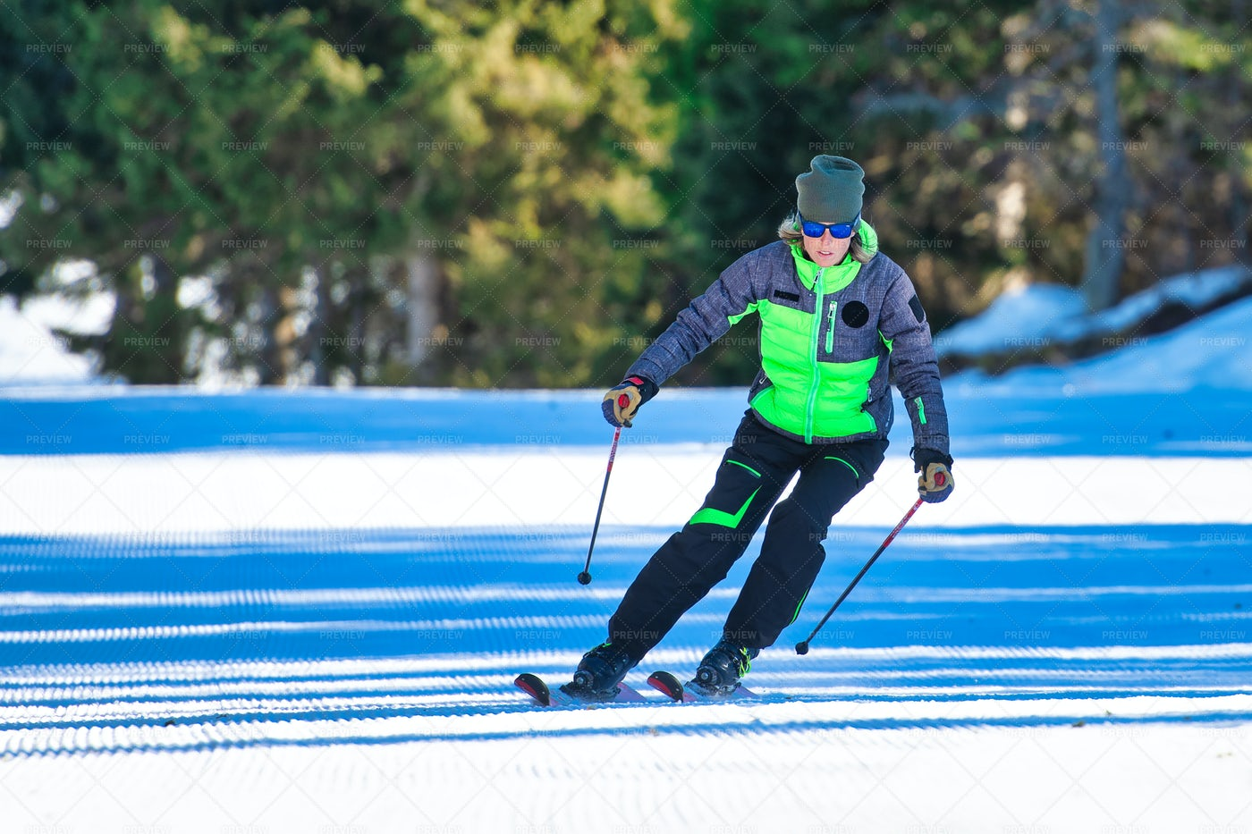 Ski Instructor On Slopes: Stock Photos