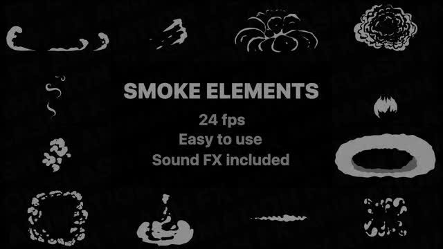 Flash FX Smoke Elements: Stock Motion Graphics