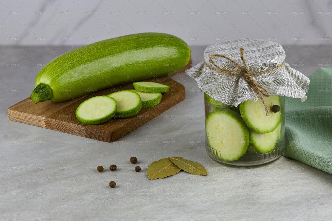 Fermented Zucchini: Stock Photos