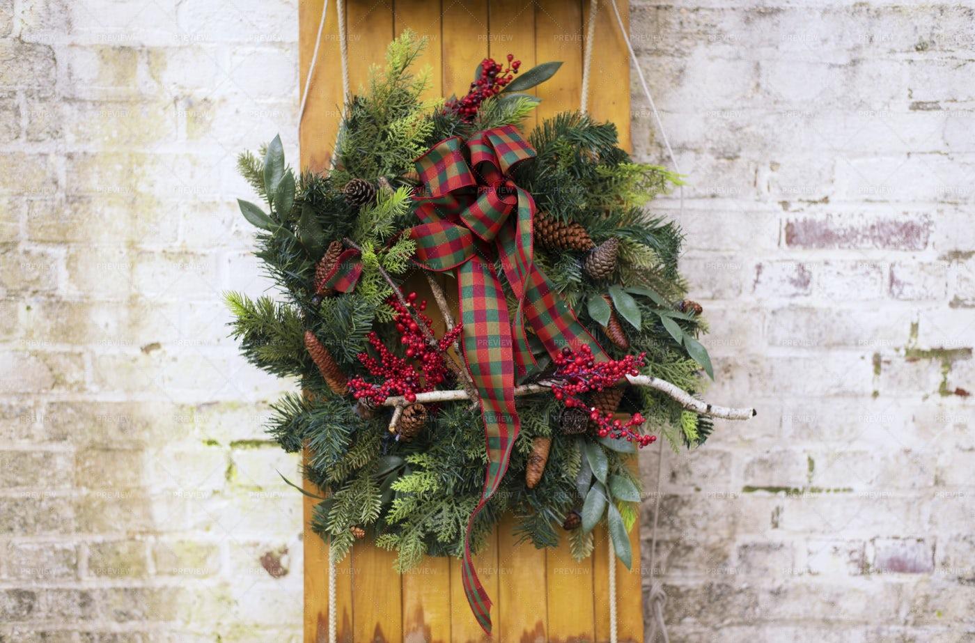 Decorative Holiday Wreath: Stock Photos