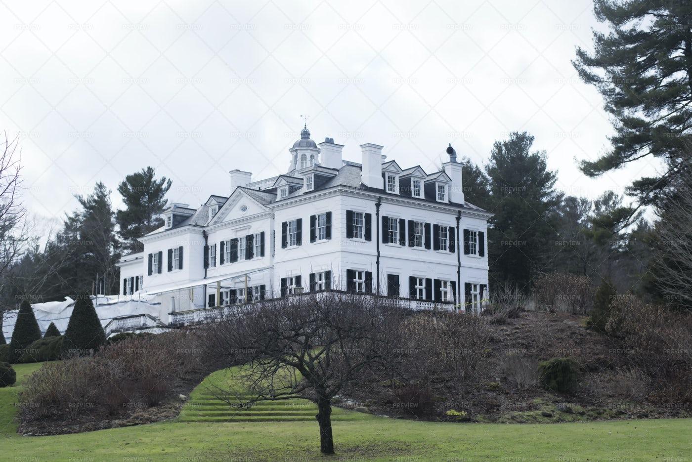 The Mount, Historic Edith Wharton Home: Stock Photos