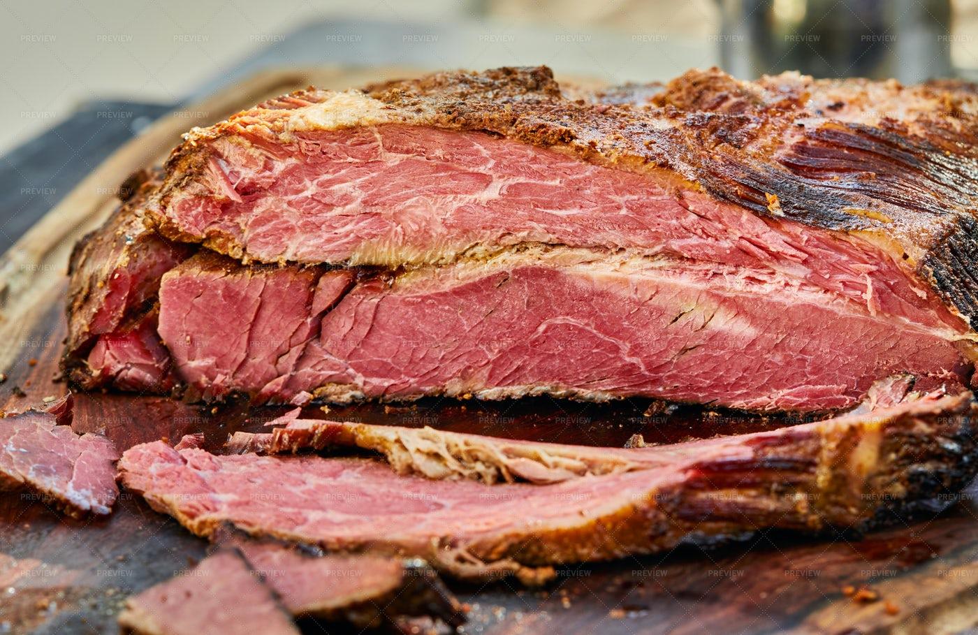 Sliced Beef Brisket: Stock Photos