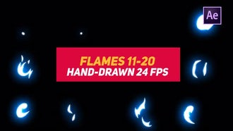 Liquid Elements 2 Flames 11-20: After Effects Templates