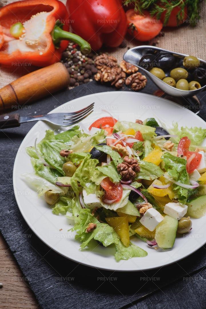 Greek Salad: Stock Photos