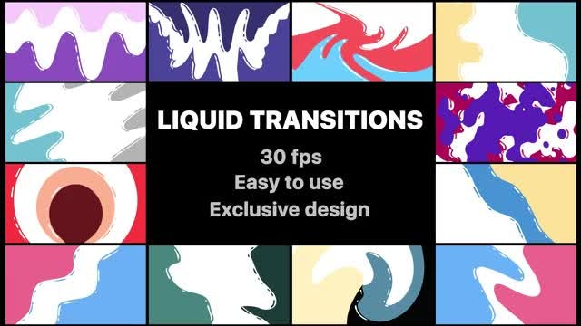 Flash FX Liquid Transitions Pack : Stock Motion Graphics
