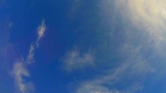 Thin Clouds On Blue Sky: Stock Video