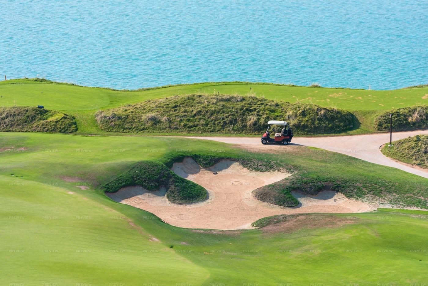 Golf Course Sand Trap: Stock Photos