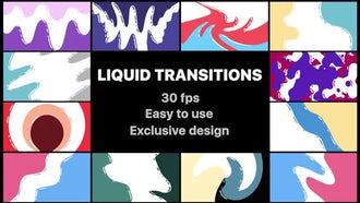 Flash FX Liquid Transitions: After Effects Templates
