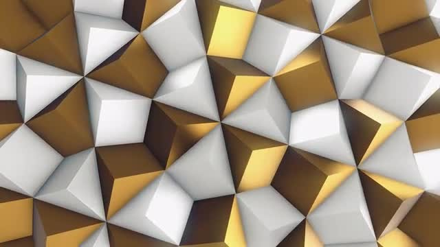 White and Gold Rhombic Pattern Wall 2: Stock Motion Graphics