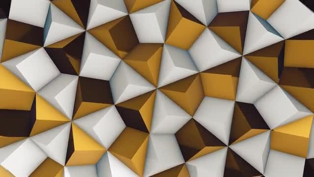 White and Gold Rhombic Pattern Wall 1: Stock Motion Graphics