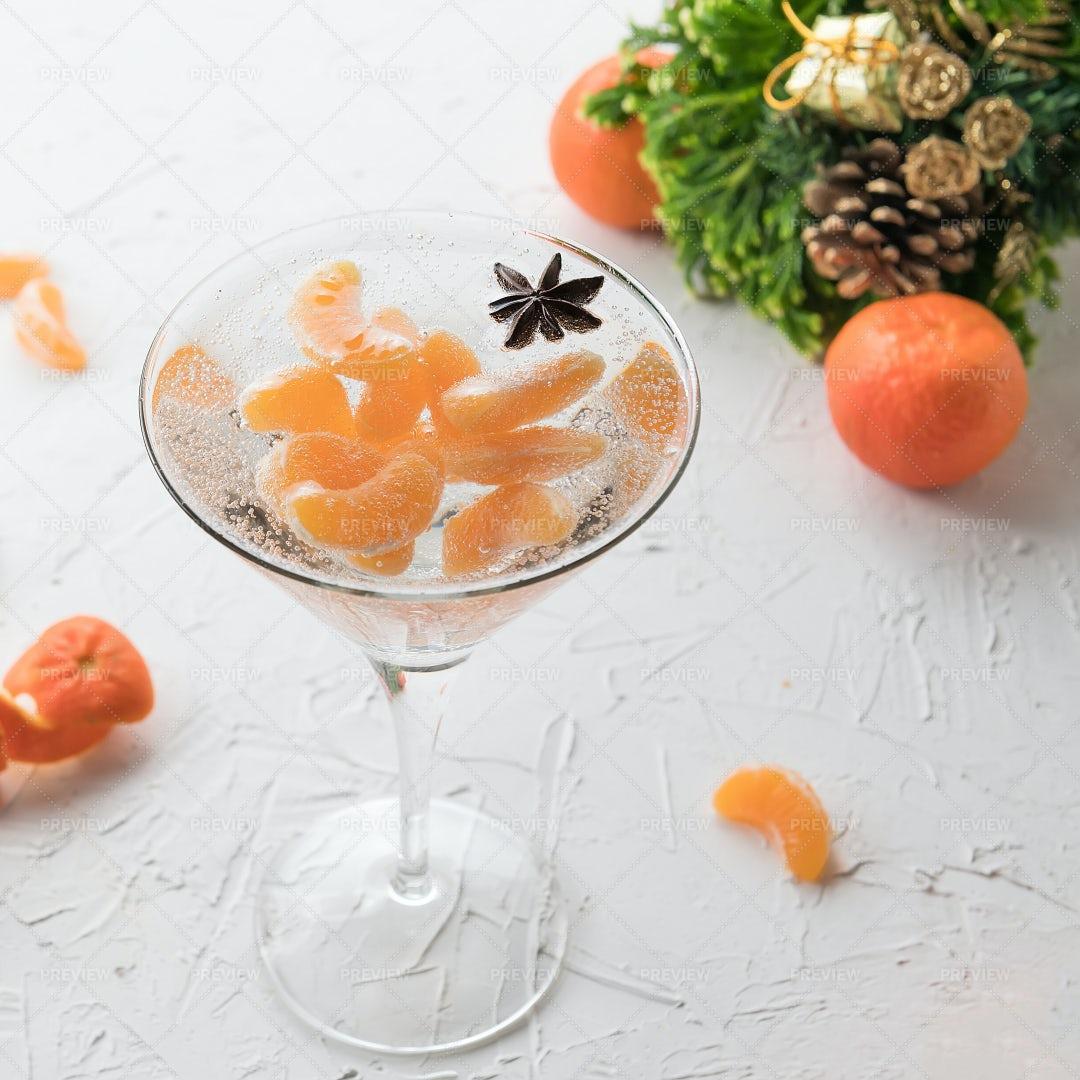 Tangerine Alcohol Cocktail: Stock Photos