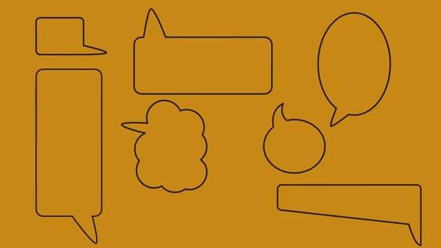 Dialogue Bubbles Pack : Stock Motion Graphics