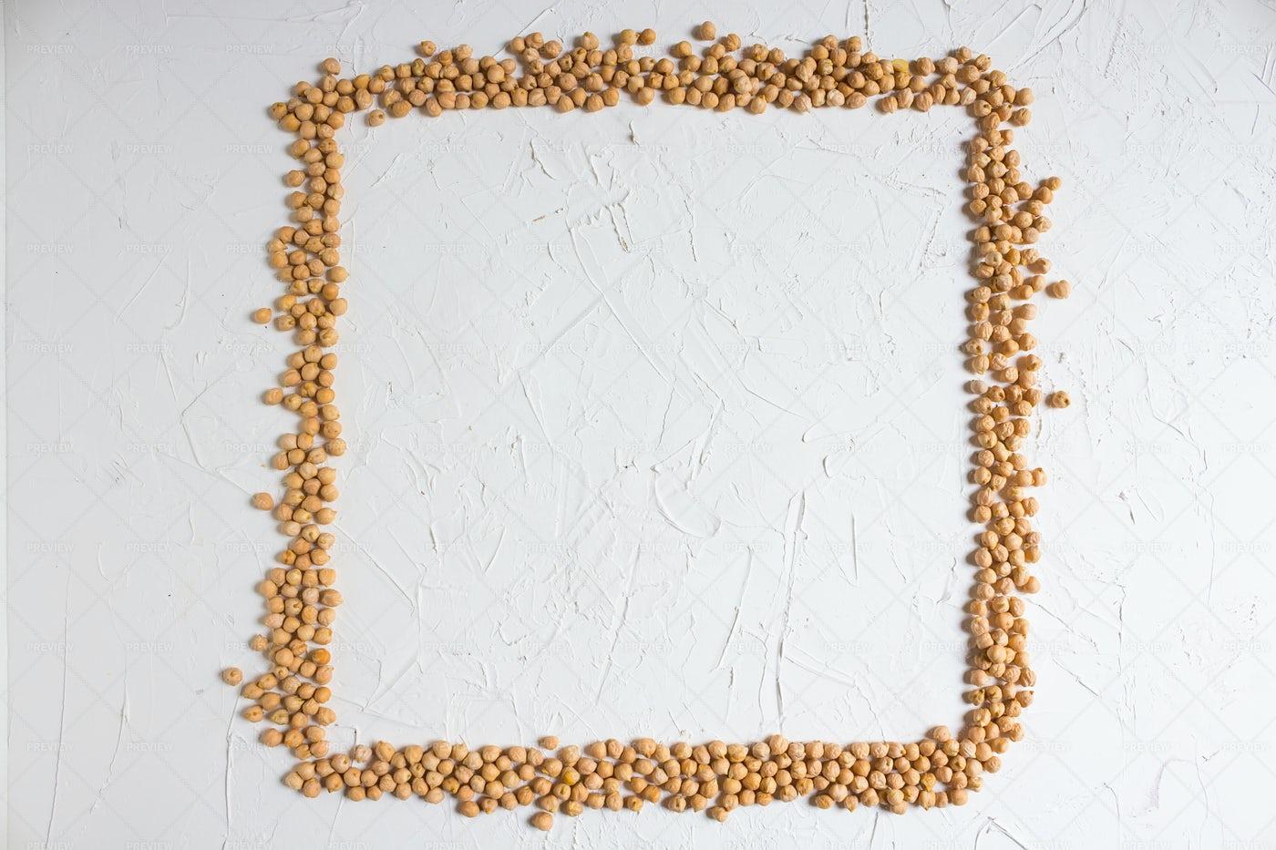 Square Frame Of Chickpeas: Stock Photos
