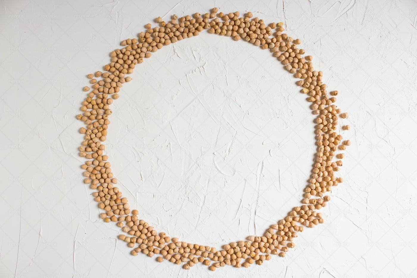Round Frame Of Chickpeas: Stock Photos