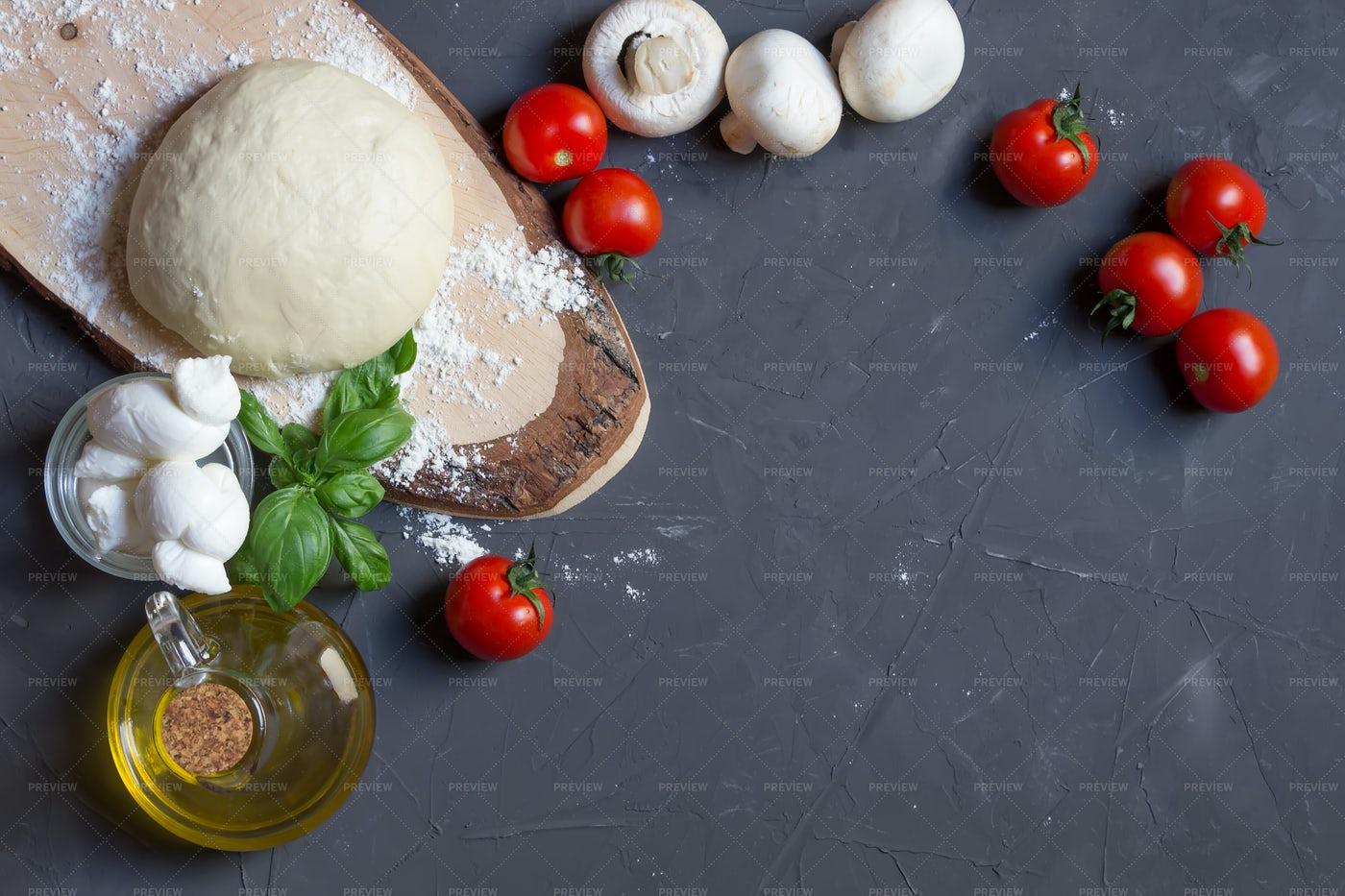 Raw Pizza Ingredients: Stock Photos