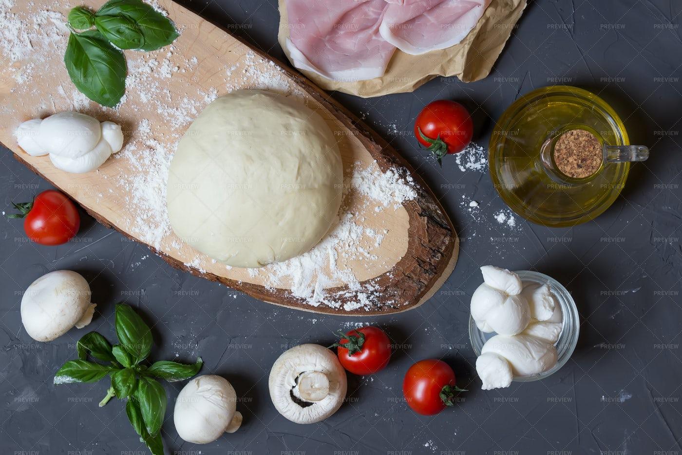 Raw Dough For Pizza: Stock Photos