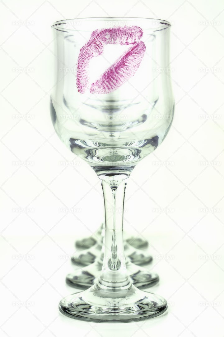 Kiss On The Glasses: Stock Photos