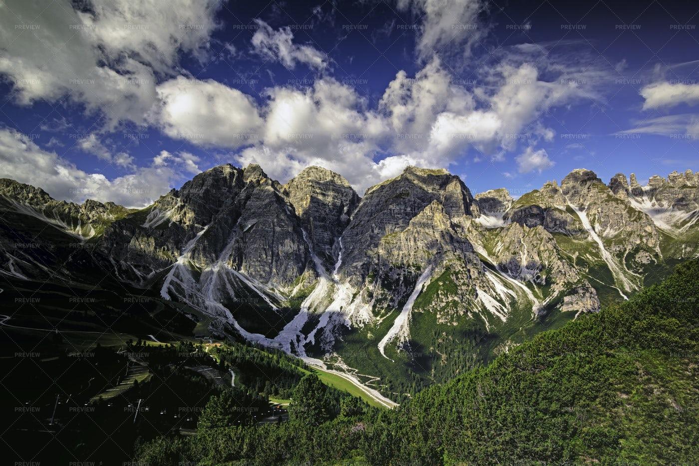 Views Of Tyrolean Alps: Stock Photos