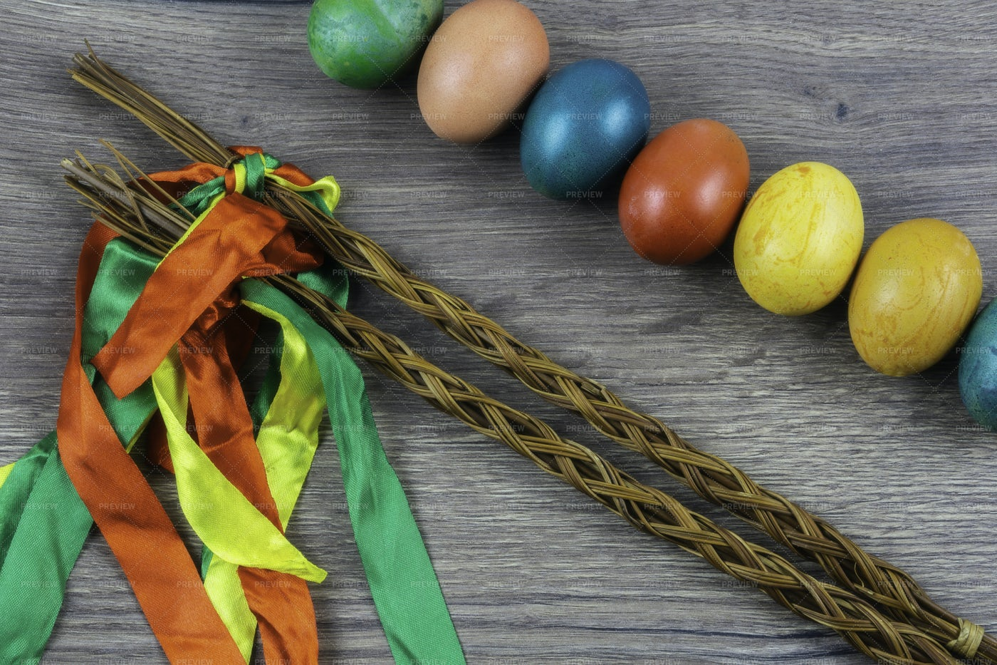 Colorful Easter Eggs: Stock Photos