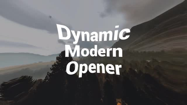 Dynamic Modern Opener: After Effects Templates