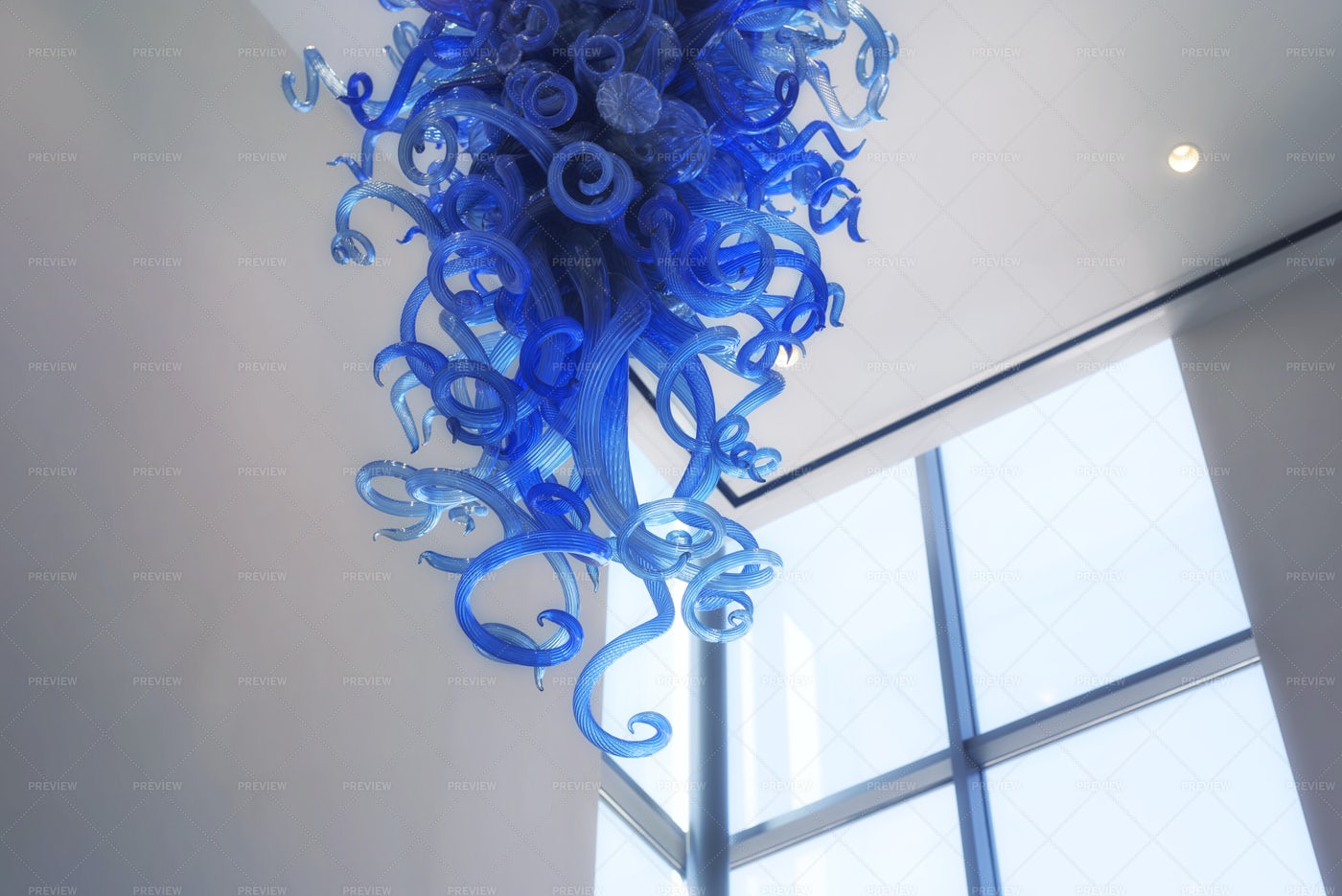 Dale Chihuly Blown Glass Display: Stock Photos