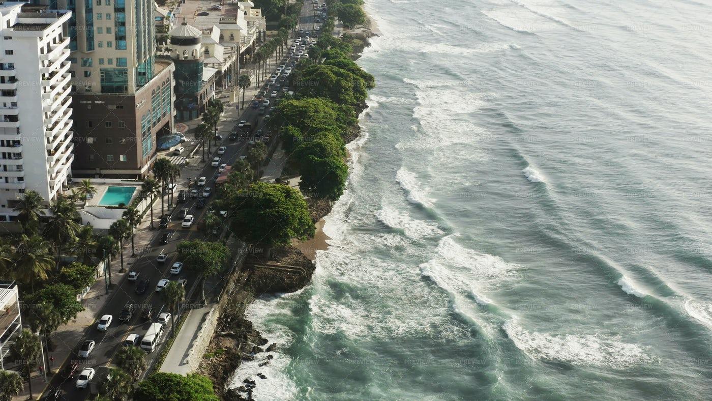 Santo Domingo City Streets: Stock Photos