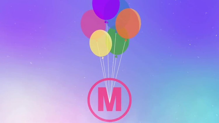 Flying Balloons Logo Reveal: After Effects Templates