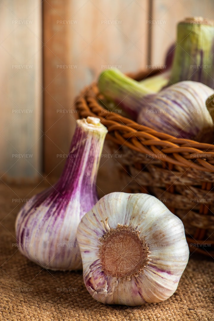 Fresh Garlic: Stock Photos