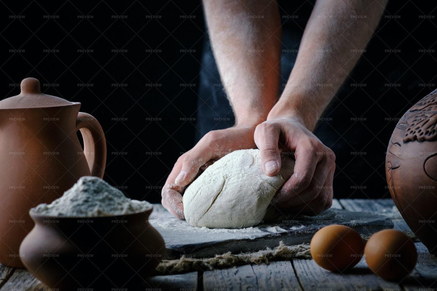 Making Bread Dough: Stock Photos