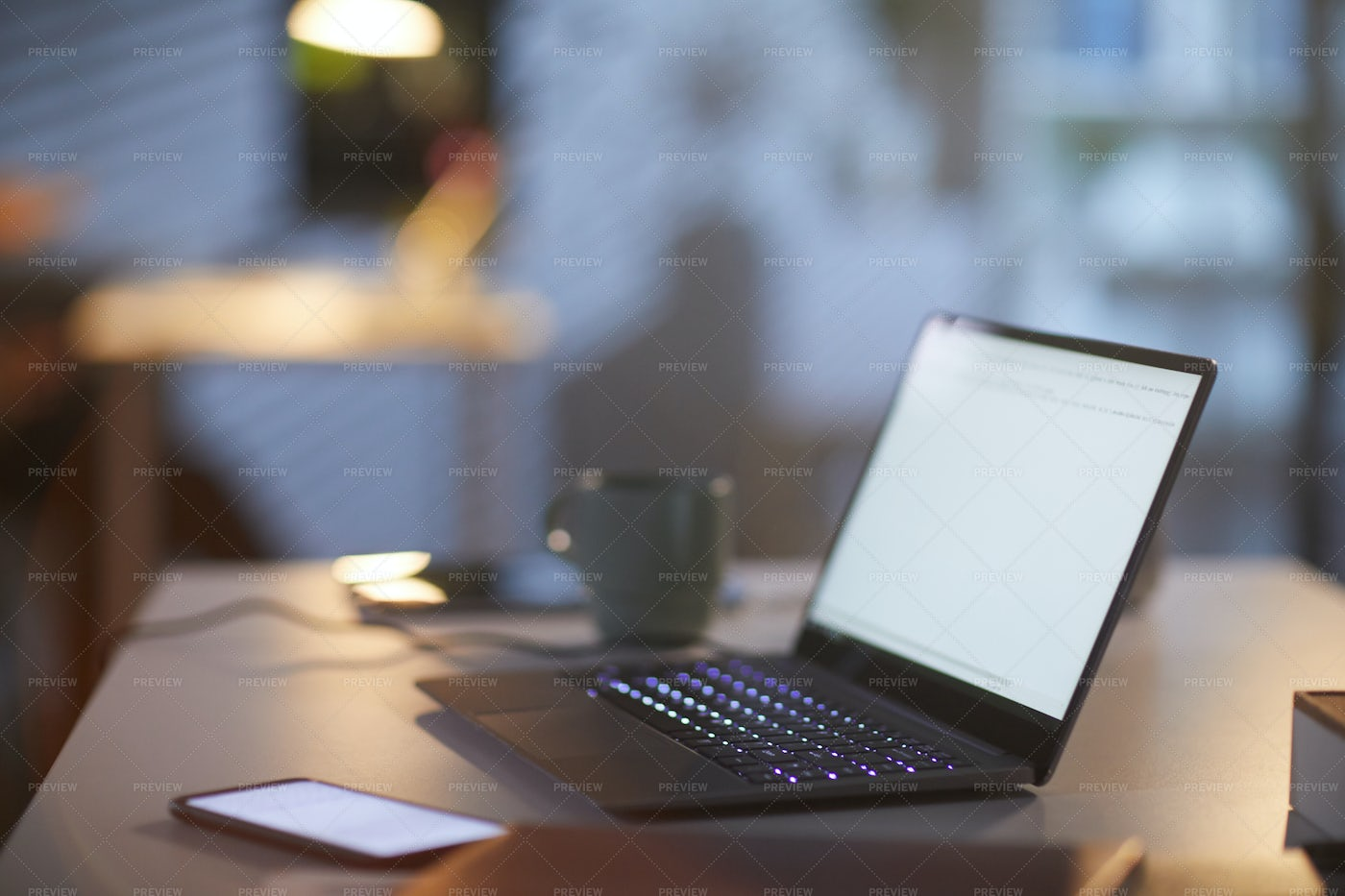 Office Workplace With Laptop: Stock Photos