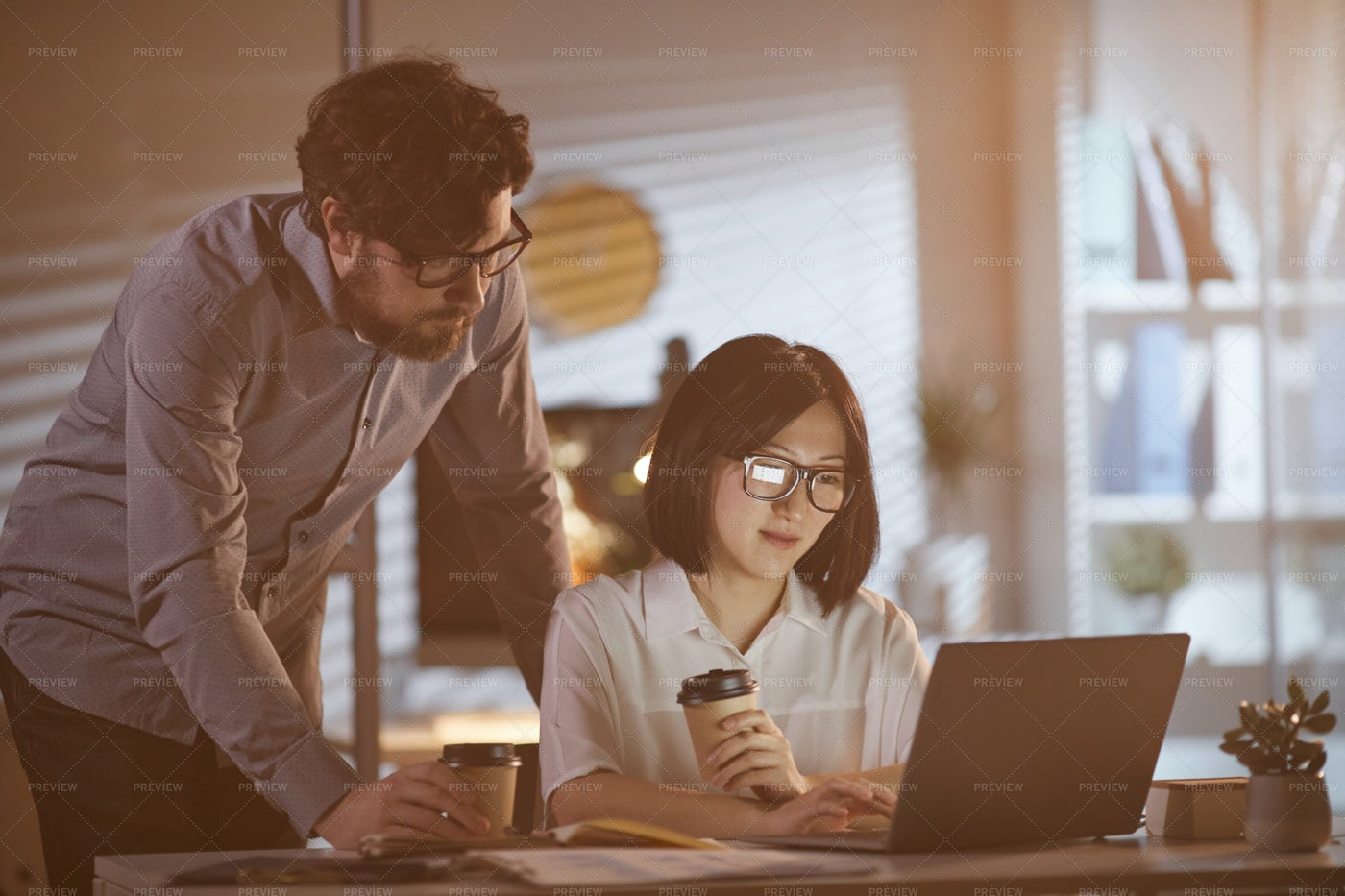 Business Partners At The Office: Stock Photos