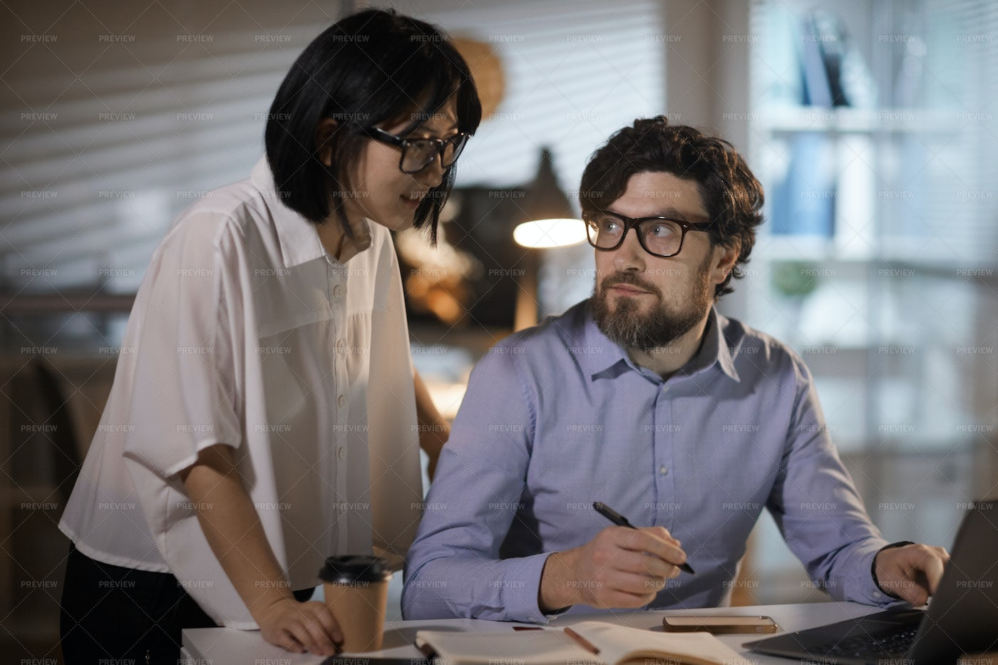 Business Colleagues Working: Stock Photos