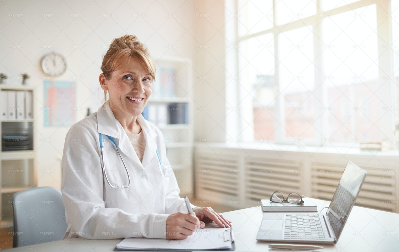 Medical Professional At The Office: Stock Photos