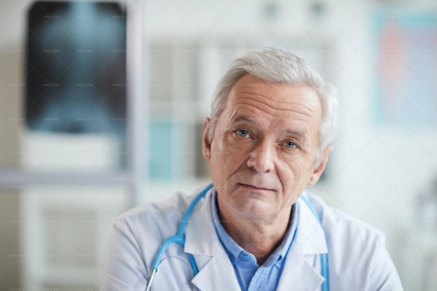 Senior Medical Professional Portrait: Stock Photos