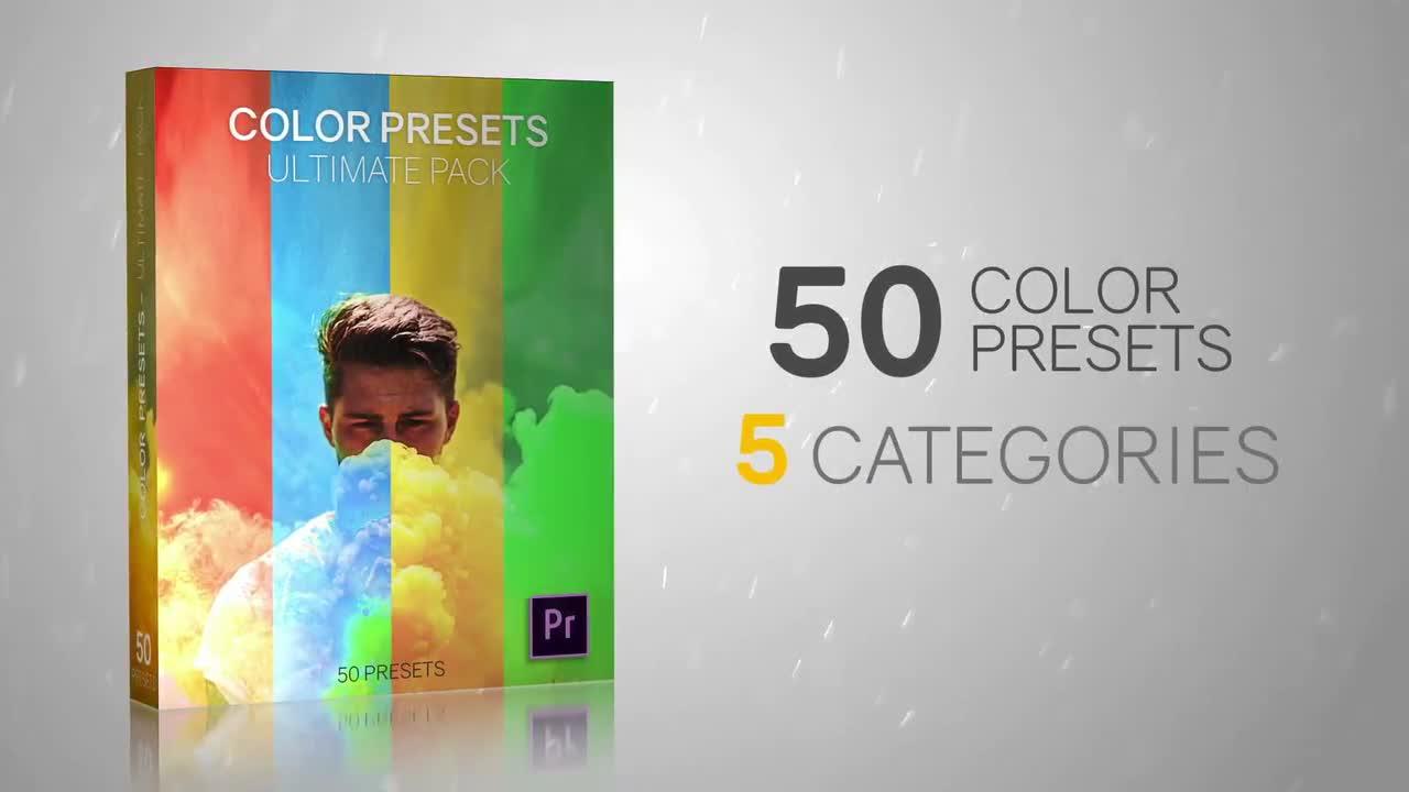 50 Color Presets - Ultimate Pack - Premiere Pro Presets