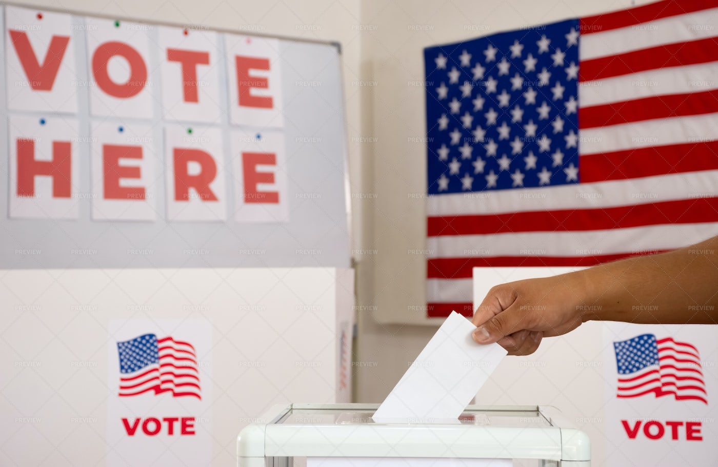 Person Is Voting: Stock Photos