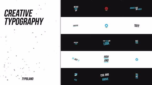 Creative Typography: After Effects Templates