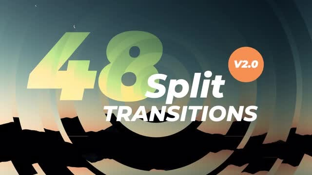 48 Dynamic Split Transitions V2.0: Premiere Pro Templates